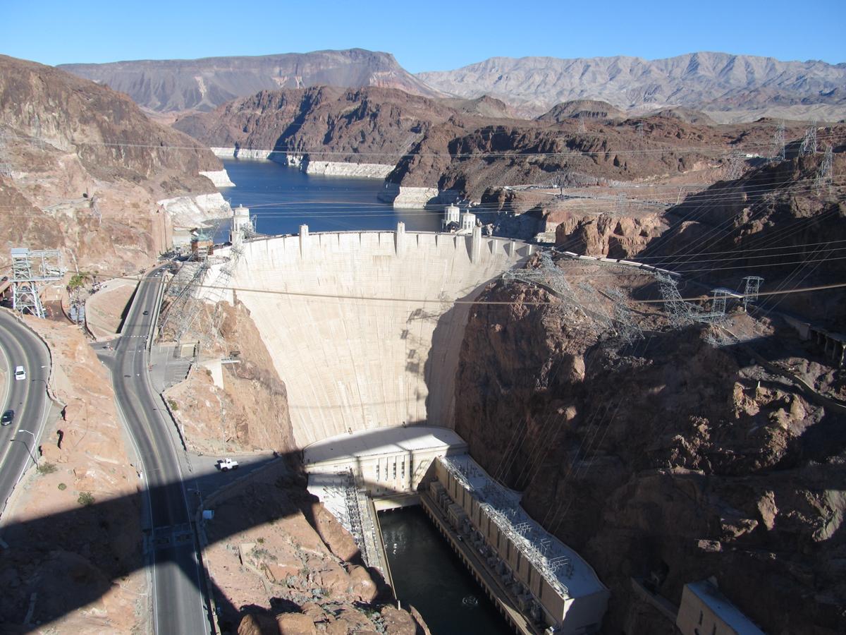 Hoover Dam from HW93 Bridge